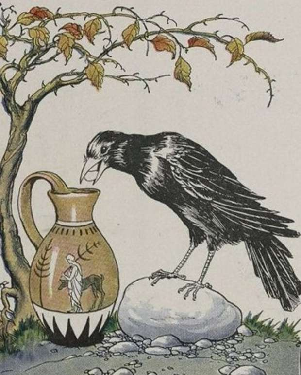 Aesop's Fables - The Crow And The Pitcher By Milo Winter