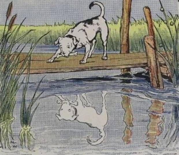 Aesop's Fables - The Dog And His Reflection By Milo Winter