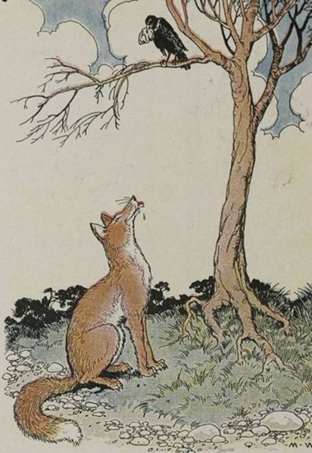 Aesop's Fables - The Fox And The Crow By Milo Winter