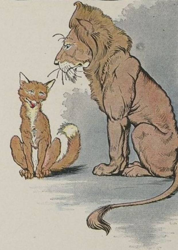 Aesop's Fables - The Fox And The Lion By Milo Winter