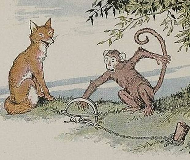 Aesop's Fables - The Fox And The Monkey By Milo Winter