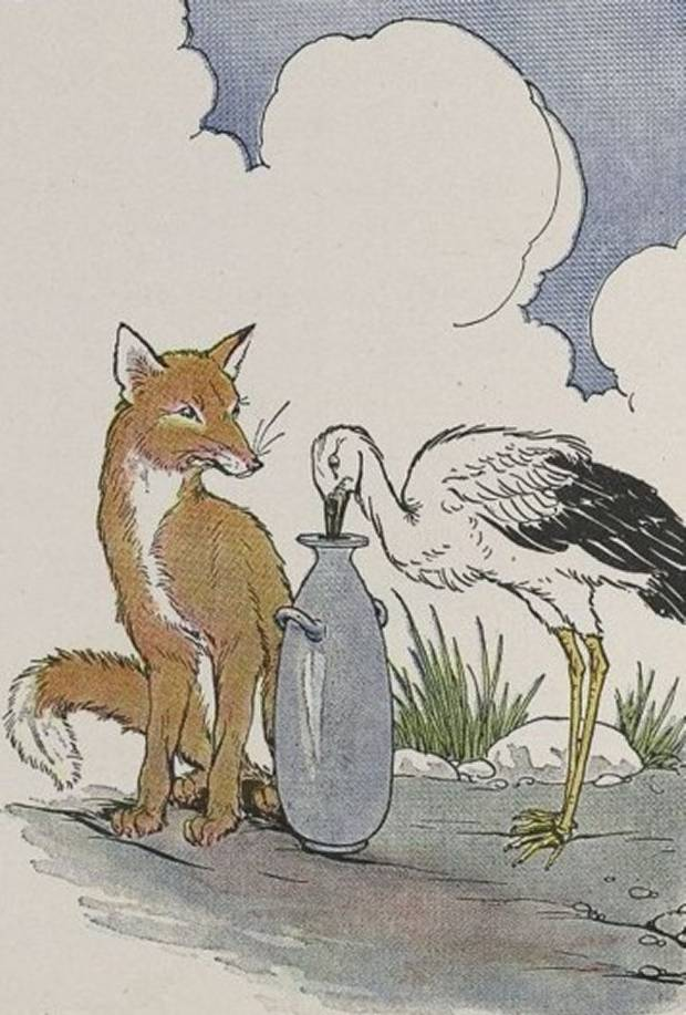Aesop's Fables - The Fox And The Stalk By Milo Winter