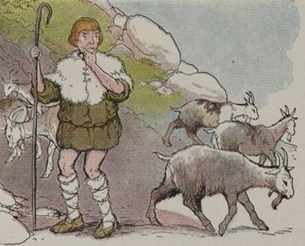 Aesop's Fables - The Goatherd And The Wild Goats By Milo Winter