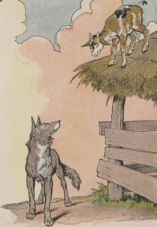 Aesop's Fables - The Kid And The Wolf By Milo Winter