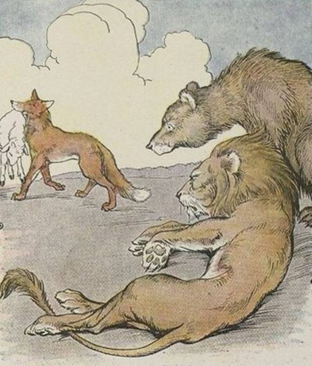 Aesop's Fables - The Lion, The Bear And The Fox By Milo Winter
