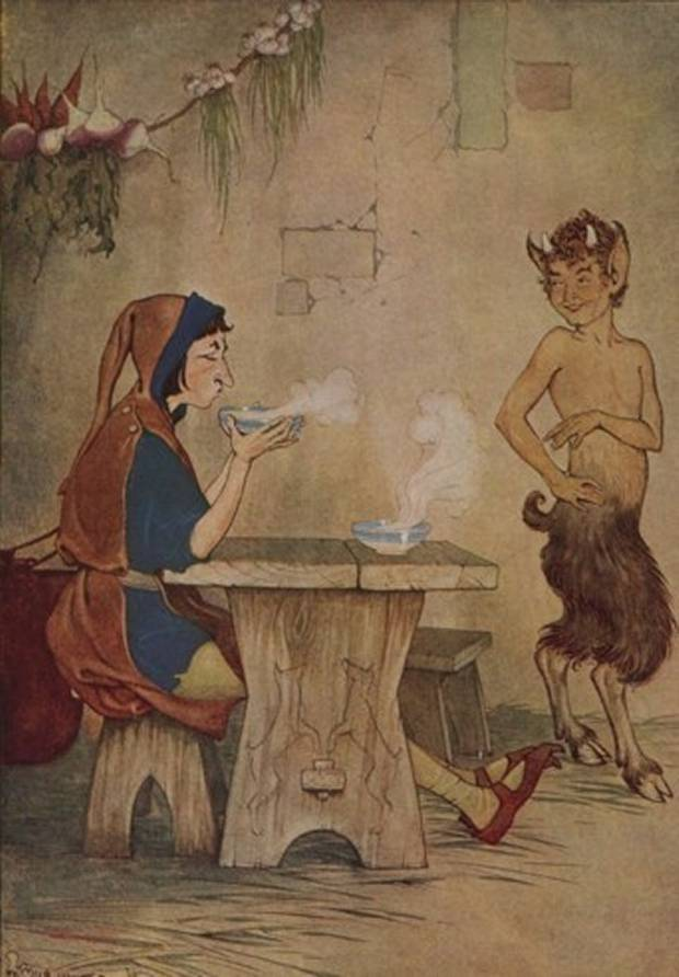 Aesop's Fables - The Man And The Satyr By Milo Winter