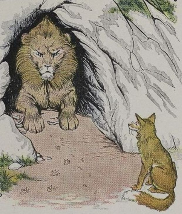 Aesop's Fables - The Old Lion And The Fox By Milo Winter