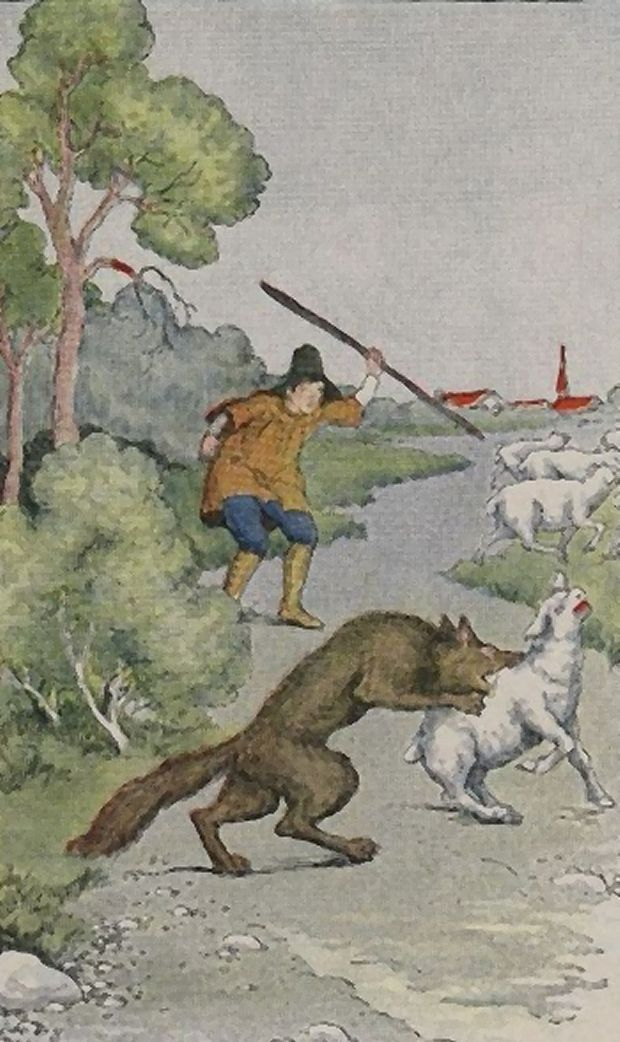 Aesop's Fables - The Shepherd Boy And The Wolf By Milo Winter