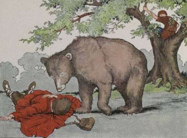 Aesop's Fables - The Two Travellers And A Bear By Milo Winter
