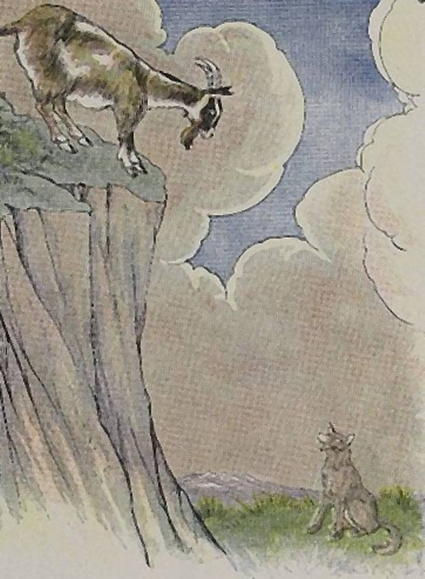 Aesop's Fables - The Wolf And The Goat By Milo Winter