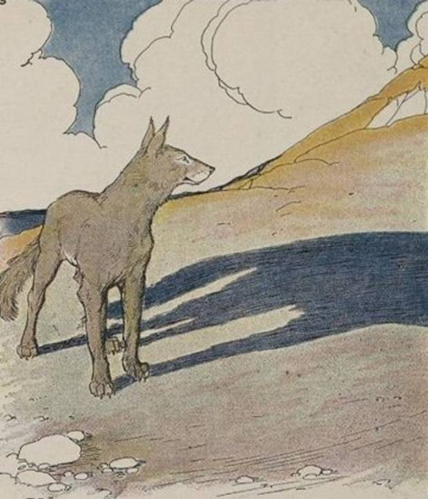 Aesop's Fables - The Wolf And His Shadow By Milo Winter