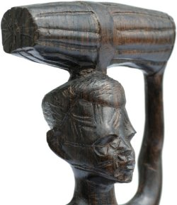 African Woodcarving Of A Woman