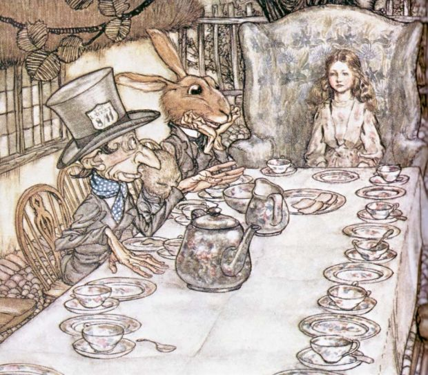 The Mad Hatter's Tea Party By Arthur Rackham