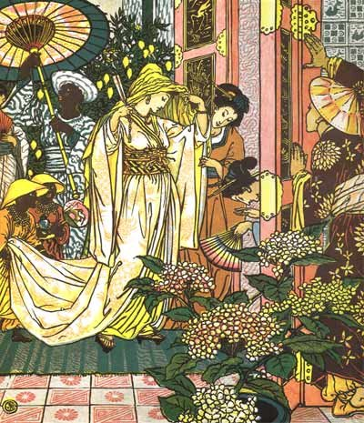 Illustration By Walter Crane For Aladdin And The Wonderful Lamp - A Classic Fairy Tale