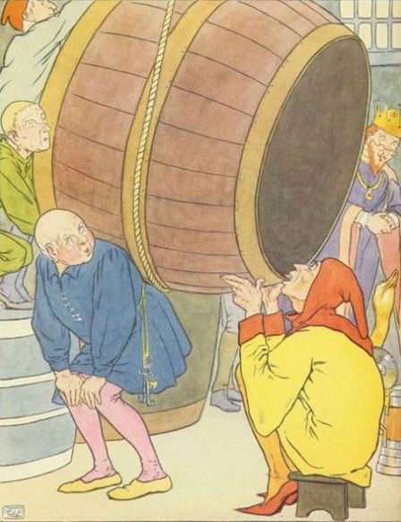 Classic Fairy Tale - Illustration For The Golden Goose By Leonard Leslie Brooke
