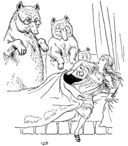 Classic Fairy Tale - Illustration For The Three Bears By Leonard Leslie Brooke