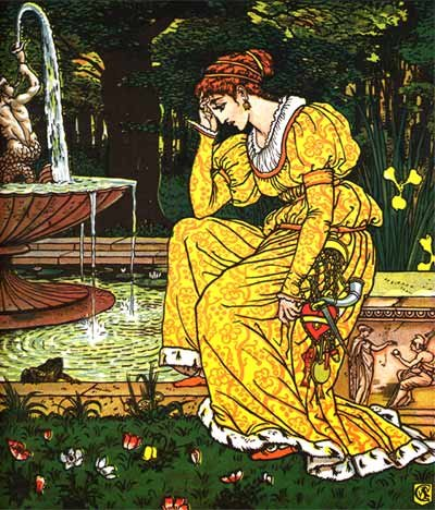 Illustration By Walter Crane For The Frog Prince - A Classic Fairy Tale