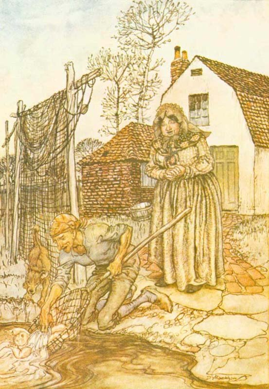 English Fairy Tale - Illustration For The Ass, The Table And The Stick By Arthur Rackham