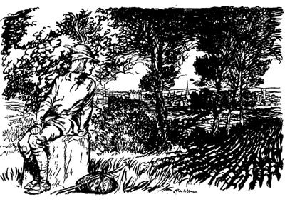 English Fairy Tale - Illustration For Dick Whittington And His Cat By Arthur Rackham