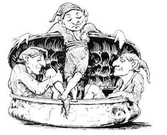 English Fairy Tale - Illustration For Jack And His Golden Snuff-Box
