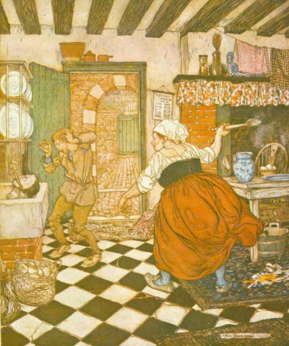 English Fairy Tale - Illustration For Mr Fox By Arthur Rackham