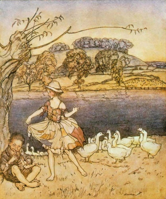 English Fairy Tale - Illustration For Tattercoats by Arthur Rackham