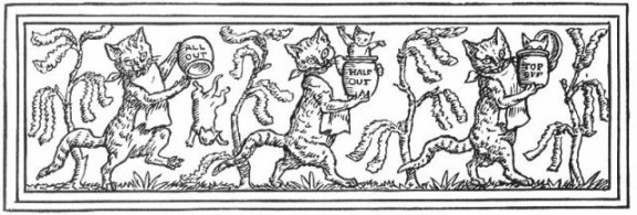 Fairy Tales From The Brothers Grimm - Decoration For The Cat And Mouse In Partnership By Walter Crane