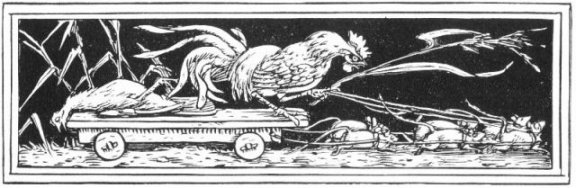 Fairy Tales From The Brothers Grimm - Decoration For The Death Of The Hen By Walter Crane