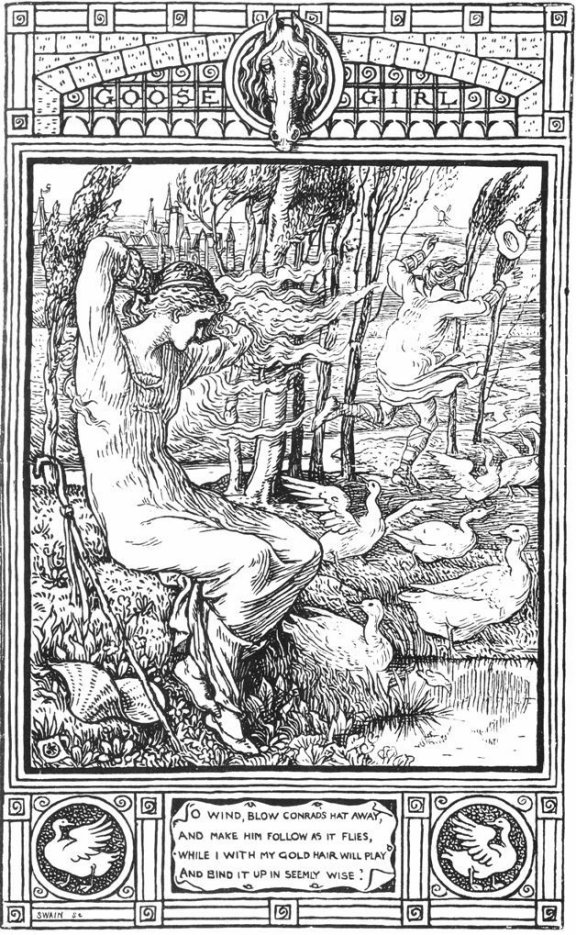 Fairy Tales From The Brothers Grimm - The Goose Girl By Walter Crane