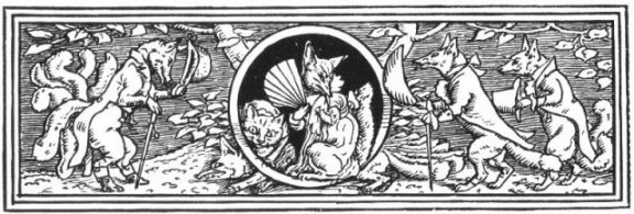 Fairy Tales From The Brothers Grimm - Decoration For How Mrs. Fox Married Again By Walter Crane