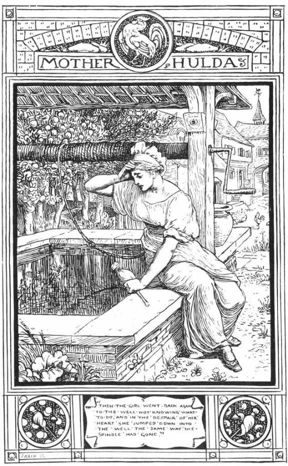 Fairy Tales From The Brothers Grimm - Mother Hulda By Walter Crane