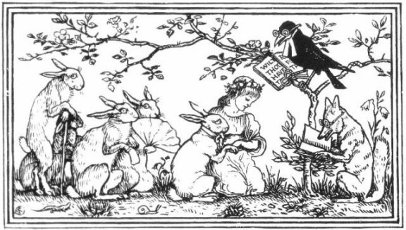 Fairy Tales From The Brothers Grimm - The Rabbit's Bride By Walter Crane