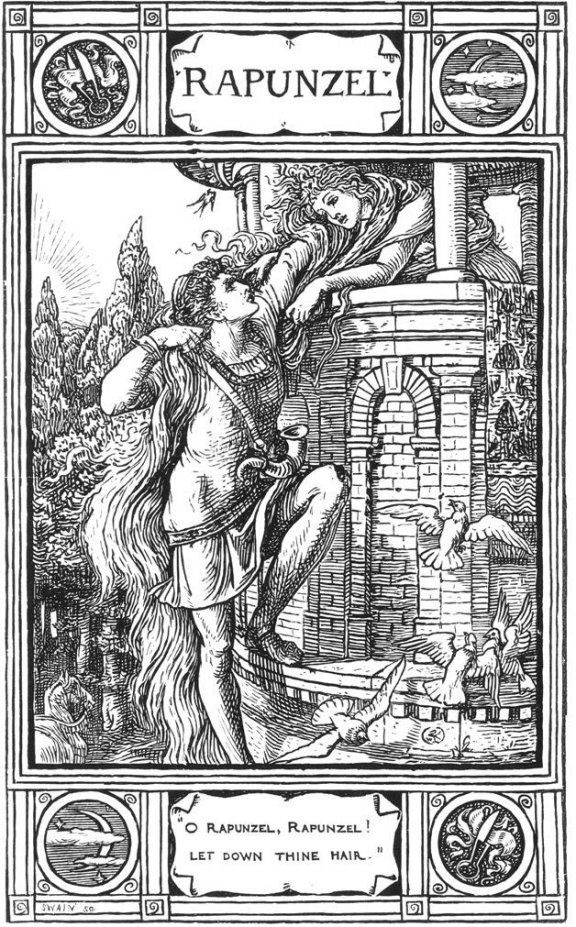 Fairy Tales From The Brothers Grimm - Rapunzel By Walter Crane