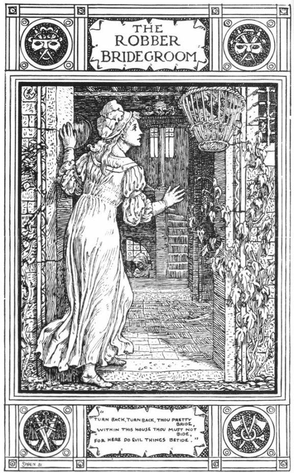 Fairy Tales From The Brothers Grimm - The Robber Bridegroom By Walter Crane