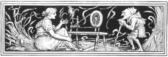 Fairy Tales From The Brothers Grimm - Decoration For Rumpelstiltskin By Walter Crane