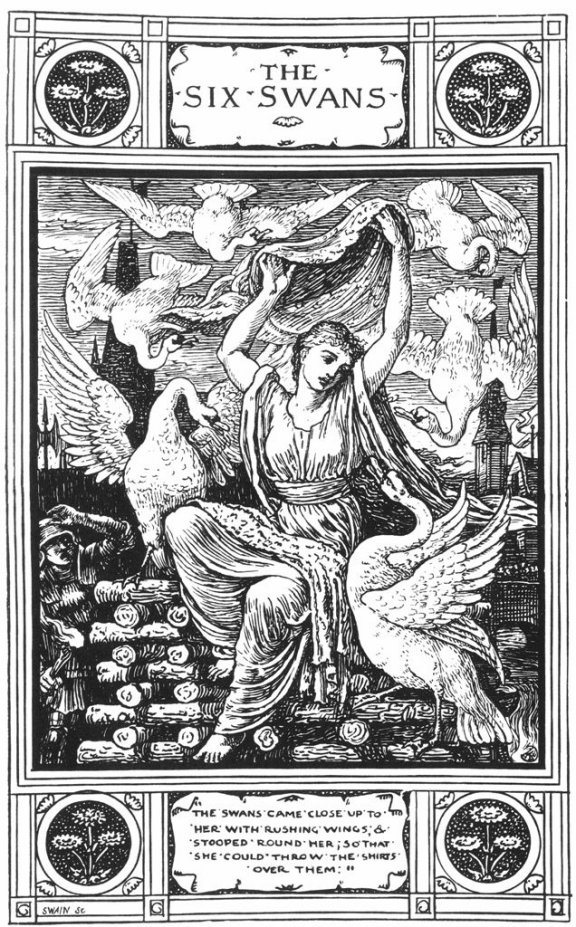 Fairy Tales From The Brothers Grimm - The Six Swans By Walter Crane