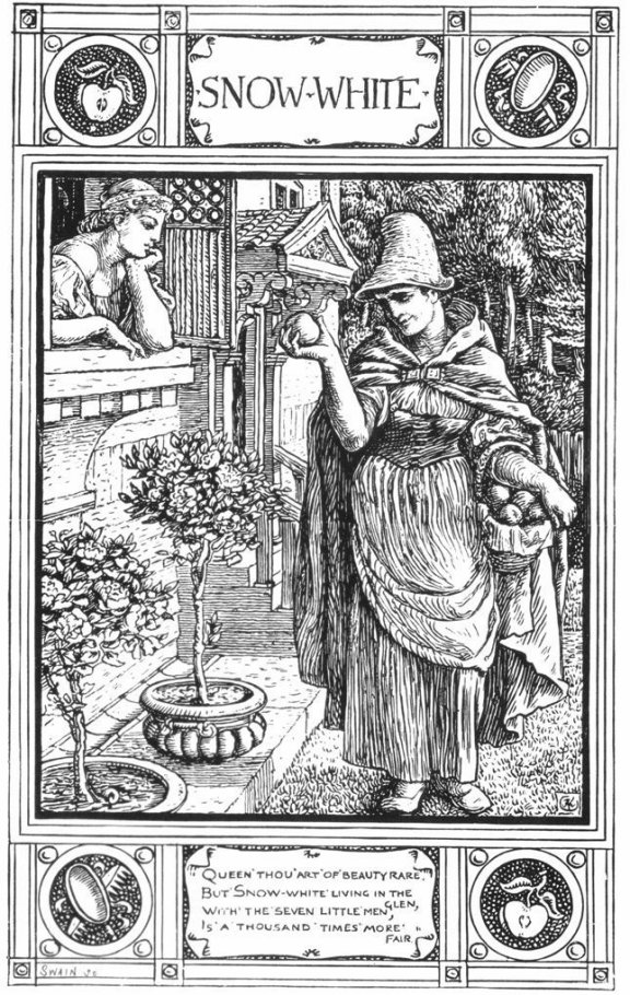 Fairy Tales From The Brothers Grimm - Snow White By Walter Crane