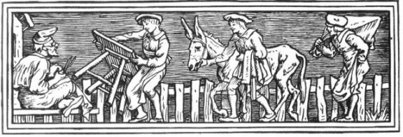 Fairy Tales From The Brothers Grimm - Decoration For The Table, The Ass And the Stick The By Walter Crane
