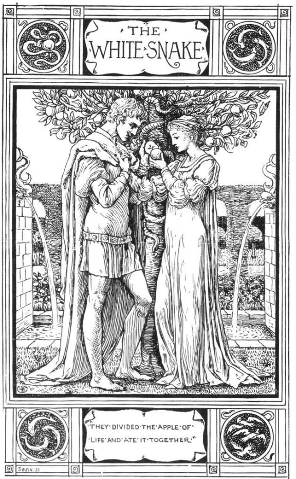 Fairy Tales From The Brothers Grimm - The White Snake By Walter Crane