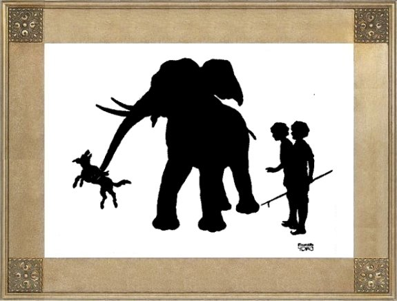 Illustration For The Elephant And The Dog - A Jataka Tale