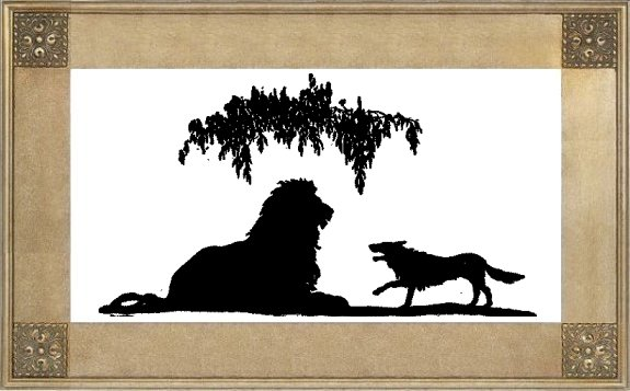 Illustration For The Lion In Bad Company - A Jataka Tale