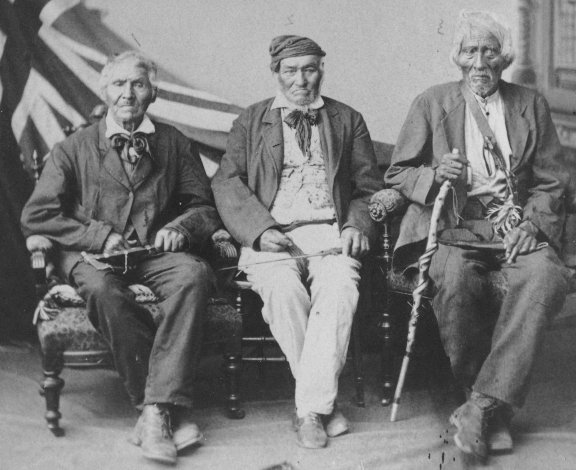 Legend Of The Iroquois - Photograph Of Iroquois Elders