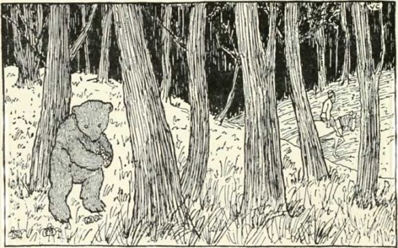 Russian Folk Tale - Illustration For The Bear And The Old Man's Daughters