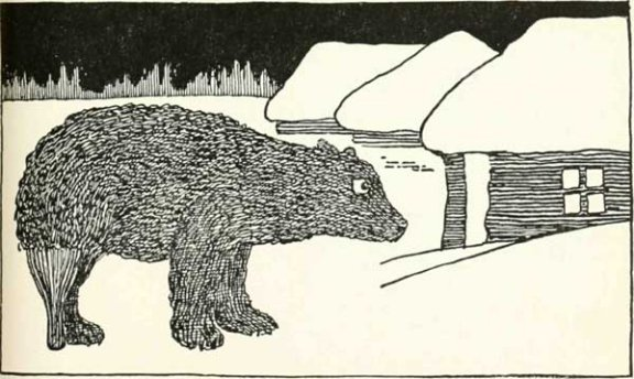 Russian Folk Tale - Illustration For The Bear's Paw