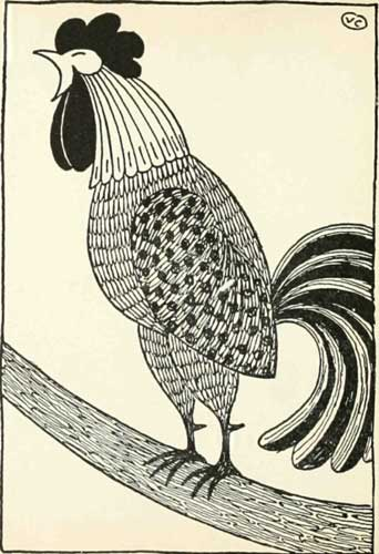 Russian Folk Tale - Illustration For The Dog And The Cock