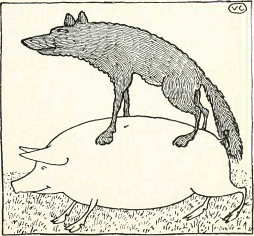 Russian Folk Tale - Illustration For The Hungry Wolf