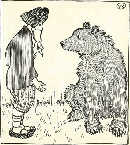 Russian Folk Tale - Illustration For The Peasant And The Bear