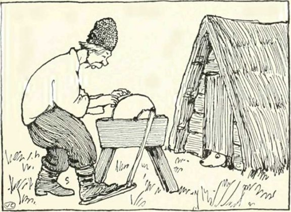 Russian Folk Tale - Illustration For The Straw Ox