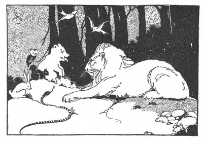Illustration For The Tibetan Folk Tale How The Rabbit Killed The Lion