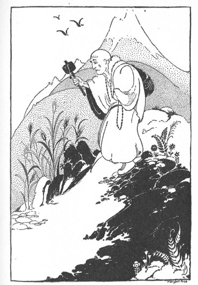 Illustration For The Tibetan Folk Tale The Man And The Ghost